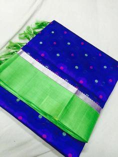 Silk Cotton Sarees, Chiffon Saree, Kutch Work, Wedding Silk Saree, Plain Saree, Simple Sarees, Saree Trends, Green Saree, Elegant Saree