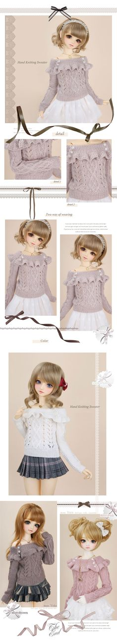 BJD Clothes Girl Sweet Hand Kniting Sweater for SD Ball-jointed Doll_SD_SD_CLOTHING_Ball Jointed Dolls (BJD) company-Legenddoll