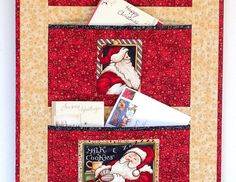 Christmas Card Holder Quilted Wall Hanging by RedNeedleQuilts Christmas Store, Christmas In July, Christmas Items, Christmas Wishes, Handmade Christmas, Christmas Crafts, Xmas, Greeting Card Holder, Greeting Card Organizer
