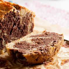 This chocolate marble banana bread is dense and moist, swirled with deep rich chocolate, with just enough dark rum to make it interesting.