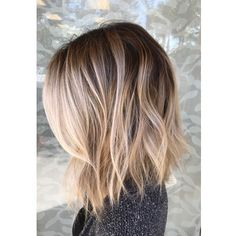 Beautiful smudged, blended balayage with the most perfect root fading into blonde. Love these beach waves and this lob haircut to further flatter this gorgeous color technique.You are in the right place about fancy hair styles Here we offer you the m Thin Hair Haircuts, Cool Haircuts, Short Hair Cuts, Short Hair Styles, Pixie Haircuts, Lob Haircut Thin, Long Bob Cuts, Thin Hairstyles, Choppy Bob Hairstyles