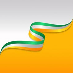 Abstract wavy flag of the ireland with r. Poster Background Design, Powerpoint Background Design, Banner Background Images, Background Images Wallpapers, Happy Independence Day Images, Independence Day Background, Independence Day Wallpaper, Indian Flag Wallpaper, Gold Wallpaper