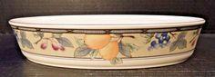 "Mikasa Garden Harvest Intaglio Oval Baker Casserole CAC29 10 3/8"" EXCELLENT! #Mikasa"