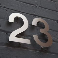 Designer Stainless Steel House Door Numbers Helvetica Large Architect in Home, Furniture & DIY, Home Decor, Plaques & Signs | eBay