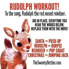 Fun Christmas workout even for kids! One Song Workouts, Workout Songs, Fun Workouts, At Home Workouts, Morning Workouts, Workout Gear, Fitness Tips, Fitness Motivation, Health Fitness