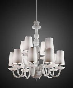 Italamp Crystal Chandelier 284/8+4/Bianco - Chandeliers - Contemporary - ITALAMP Cult Edition - Lighting - Online Shop - Sfera srls