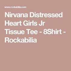 Nirvana Distressed Heart Girls Jr Tissue Tee - 8Shirt - Rockabilia