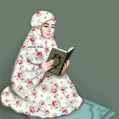 Girly M, Beautiful Muslim Women, Beautiful Hijab, 3id Adha, Hijab Drawing, Islamic Cartoon, Anime Muslim, Hijab Cartoon, Islamic Girl
