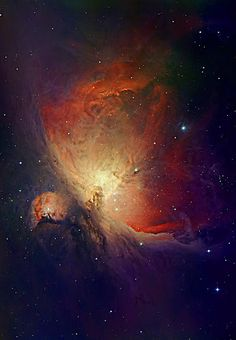 Orion Nebula, NGC 1976, M42 (ground-based image) Name: M 42, Messier 42, NGC 1976, Orion Nebula Type: • Milky Way : Nebula : Type : Star Formation • X - Nebulae Images Distance: 1400 light years Credit:Photograph by David Malin