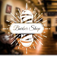 Barber Shop Wall Sticker personalised decal transfer art hair graphic in Business Office & Industrial Retail & Shop Fitting Signs Barber Poster, Barber Sign, Barber Shop Interior, Barber Shop Decor, Wall Sticker Design, Sticker Shop, Sticker Designs, Barber Shop Names, Barber Quotes