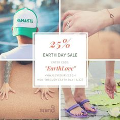 """Celebrate Earth Day with @ILoveGurus! Get 25% off with the code """"EarthLove"""" at checkout.  Each purchase plants a tree!"""