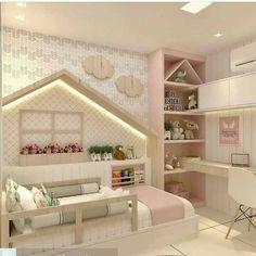 off-white shabby chic bedroom luggage rack Kids Bedroom Designs, Kids Room Design, Design Girl, Modern Kids Bedroom, Trendy Bedroom, Diy Furniture Dresser, Dresser Desk, Grey Furniture, Furniture Design