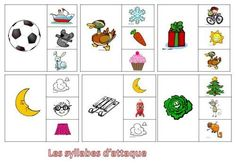 Les Syllabes d'Attaque: carte à pince Alternative Education, Letter Games, French Resources, Syllable, Busy Bags, Cursive, Phonics, Literacy, Kindergarten