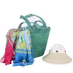 İthal hasır çanta ,şapka ve pareyo