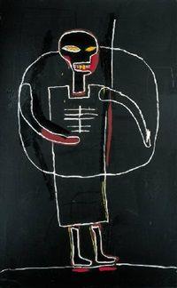 Untitled (Black figure) - Basquiat, Jean-Michel (American, 1960 - Fine Art Reproductions, Oil Painting Reproductions - Art for Sale at Galerie Dada Jm Basquiat, Jean Michel Basquiat Art, Andy Warhol, Basquiat Paintings, Modern Art, Contemporary Art, Black Figure, Tape Art, Art Brut