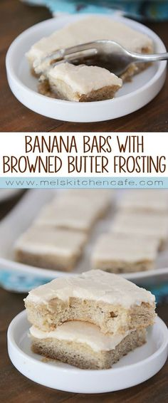 These soft, moist banana bars are everything a banana bar should be; topped with a simple browned butter frosting, they are irresistible.