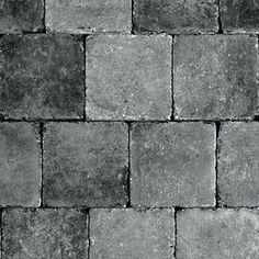 Abbeystones 20x20x6cm getrommeld grijs zwart - Abbeystones - Getrommeld - Sierbestrating - Bestrating.nl