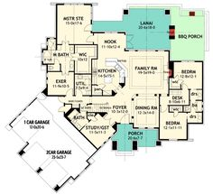 COOL house plans offers a unique variety of professionally designed home plans with floor plans by accredited home designers. Styles include country house plans, colonial, Victorian, European, and ranch. Blueprints for small to luxury home styles. Tuscan House Plans, Craftsman Style House Plans, Ranch House Plans, Cottage House Plans, Dream House Plans, Cottage Homes, House Floor Plans, My Dream Home, Dream Houses