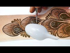 Latest Trick Mehndi Design 2019 - Spoon से लगाएं ये मोरपंखी मेहँदी किसी भी तीज त्यौहार या शादी में - YouTube