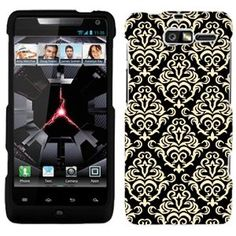 Amazon.com: Motorola Droid RAZR M Beautiful Vintage Pattern on Black Hard Case Phone Cover: Cell Phones & Accessories