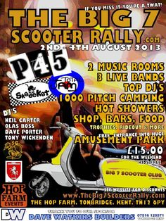 2-4 August 2013: The Big 7 Scooter Rally, Kent