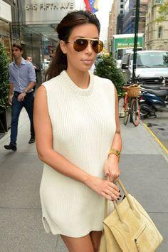 289025b5c4 la modella mafia Model Off Duty Street Style - Kim Kardashian in Givenchy  beige shark boots and a Celine Phantom bag 2