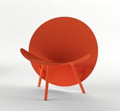 Halo Chair, by Michael Sodeau, a lightweight object produced entirely from Hypetex developed for Formula One