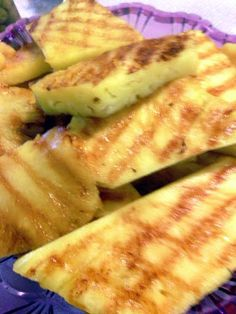 """sunshines grilled pineapple! 5.00 stars, 2 reviews. """"everyone needs to try this so good."""" @allthecooks #recipe #fruit #easy #healthy"""