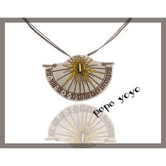 Sun clock handmade metalwork pendant by pepeyoyojewellery on Etsy Clock Necklace, Watch Necklace, Sterling Silver Necklaces, Silver Jewelry, Sundial, Handmade Silver, Necklace Lengths, Metal Working, My Etsy Shop