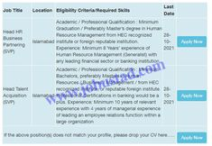 Jobs Description Askari Bank Jobs 2021 in Pakistan Apply Online has been announced through the advertisement and applications from the suitable persons are invited on the prescribed application form. In these Latest Banking Jobs in Islamabad the eligible Male/Female candidates from across the country can apply through the procedure defined by the organization and can ... Read more The post Askari Bank Jobs 2021 in Pakistan Apply Online appeared first on JobUstad.