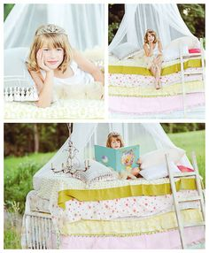 princess and the pea mini session idea. totally doing this with annabelle