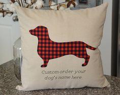 Dashound 18 x 18 Pillow Cover - Dashound - Any Dog breed - Custom dog breed pillow - Dog decor - Furry Friends  - memory pillow