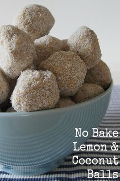 No Bake Lemon Balls - tasty and easy to make.  A recipe to get the kids in the kitchen Try for Playgroup treat girls can make