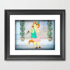 Shopping Unicorn Framed Art Print by That's So Unicorny - $32.00