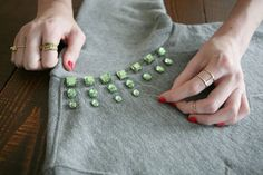 Bejeweled DIY sweatshirt