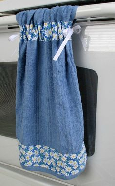 Tie Top TowelsLight Blue Kitchen Towel by allwrappedupandmore, $6.00