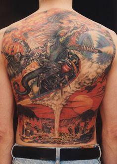fe2002caf9758 Dragon Tattoo. Heavy Metal Tattoo
