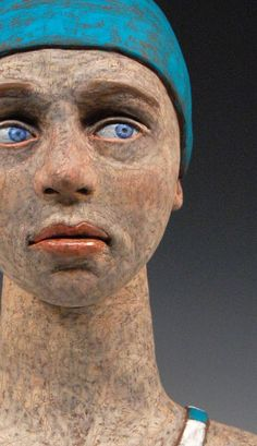 Laura Lloyd - Swimmer original ceramic sculpture by lloydfineart on Etsy