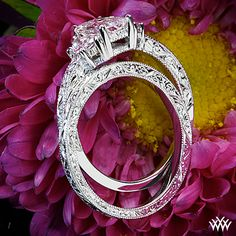 Custom Hand Engraved Wedding Ring            This delicately detailed Custom Hand Engraved Wedding Ring is set in platinum and features a full eternity pattern.