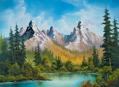 bob ross art gallery | bob ross autumns magnificence paintings for sale - bobross.paintings ...