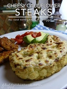 Roasted Cheesy Cauliflower Steak Recipe a Great Low Carb Side Dish or Even a Vegetarian Delight!