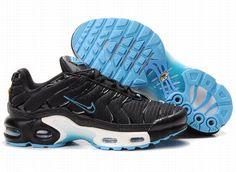 KqK8s Nike Air Max TN Womens Shoes Black Skyblue
