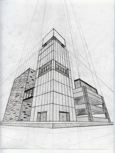 Ponto de fuga: o que dicas + exemplos (com fotos) Desenhar com perspecti… Vanishing point: what, tips + examples (with photos) Drawing with perspective is not an easy task, isn't it? Check out how to make drawings using the vanishing point. Interior Architecture Drawing, Architecture Drawing Sketchbooks, Architecture Concept Drawings, Cultural Architecture, Drawings Of Buildings, Perspective 3 Points, 2 Point Perspective Drawing, Perspective Art, Perspective Building Drawing