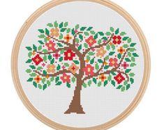 Instant Download Spring Tree Cross Stitch por ZindagiDesigns