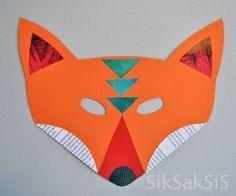 Askartele vekkulit eläinnaamarit! siksaksis.blogspot.fi Kettu - Fox