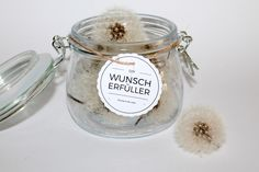 DIY, crafts: Wish filler Dandelion / Dandelion in home decoration and gifts - Diy Gift Ideas Diy Gifts In A Jar, Jar Gifts, Free Printable Tags, Free Printables, Diy Presents, Inspirational Gifts, Filofax, Diy Art, Diy For Kids