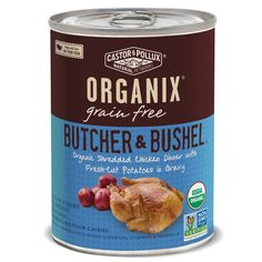 Castor and Pollux Organix Butcher and Bushel Grain Free Organic Canned Dog Food, 12 count 12.7 oz >>> Wow! I love this. Check it out now! : Dog food types