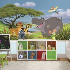 Roommates Lion Guard XL 6-foot x 10-foot 6-inch Ultra-strippable Prepasted Chair Rail Mural