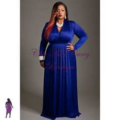 Plus Size Royal Blue Dress
