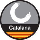 Hamburguesa catalana de butifarra. Se hace, evidentemente, con butifarra catalana de calidad. Las butifarras catalanas ya van especiadas por lo que no ha de añadirse ninguna pimienta ni pimentón cuando se hace la hamburguesa. Yummy!